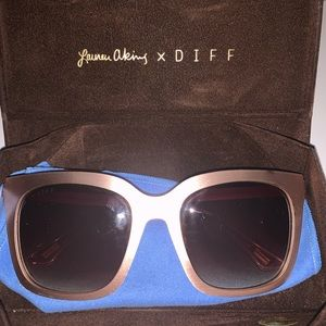 Lauren Akins X Diff Rose Gold Sunglasses